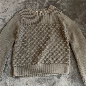 GapKids sweater with puffballs